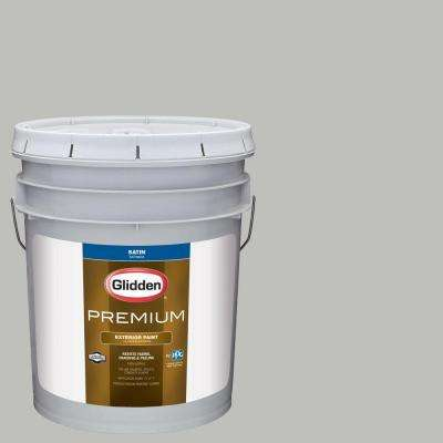 5-gal. #HDGCN62 Pebble Grey Satin Latex Exterior Paint