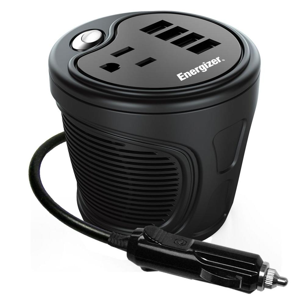 Car Power Inverters Battery Charging Systems The Home Depot 12vdc To 9vdc Converter Ac Dc 12v 45v 9 Volt 180 Watt Cup Inverter Energizer