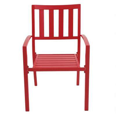 Mix And Match Ruby Metal Slat Outdoor Dining Chair 2 Pack