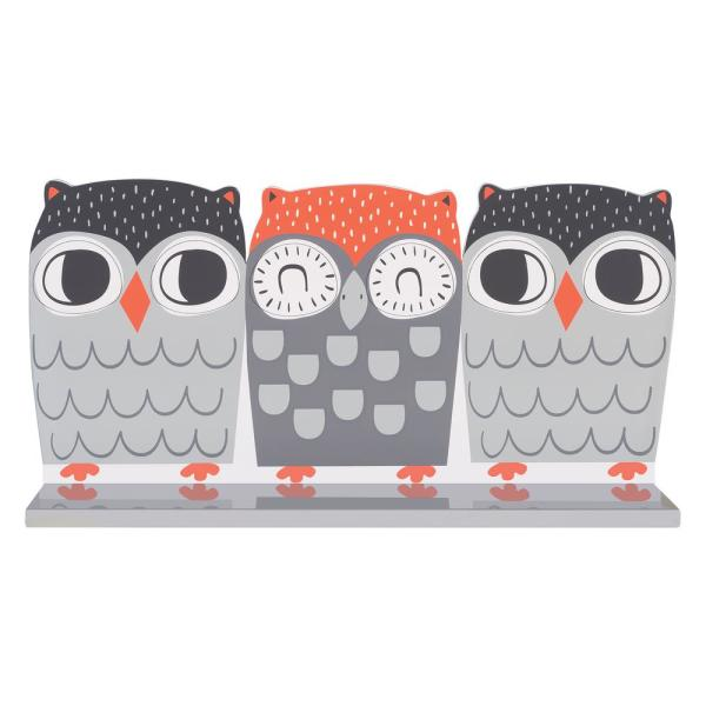 Trend Lab Olive Owl 18 in. W x 4 in. D Decorative Wall Shelf