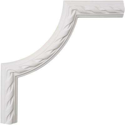 12 in. x 3/4 in. x 12 in. Reeded Acanthus Leaf Polyurethane Panel Moulding Corner