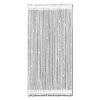 45 in. L Sand Shell Polyester Lace Panel in White