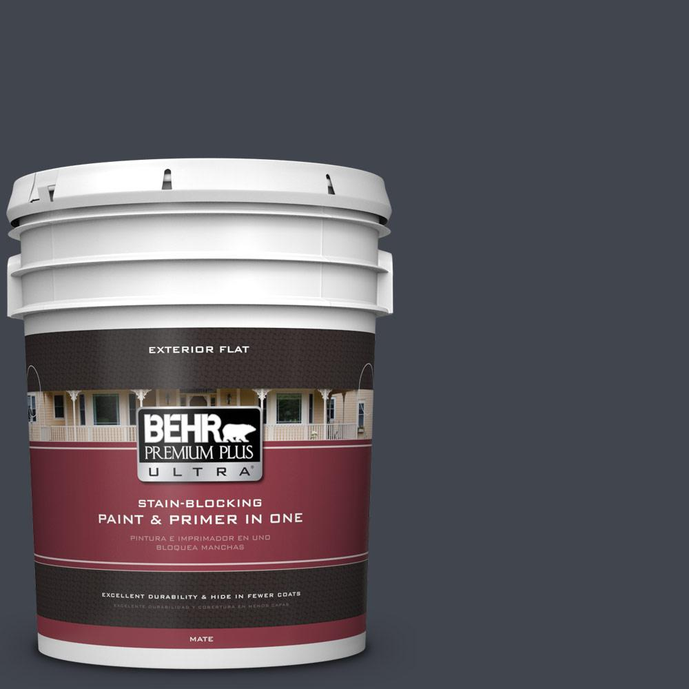 5 gal. #PPU25-23 Winter Way Flat Exterior Paint