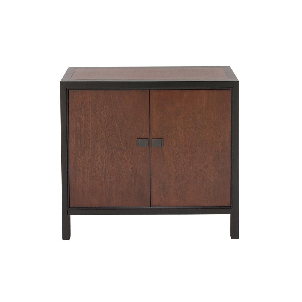 Litton Lane Modern 2-Door Wooden Cabinet