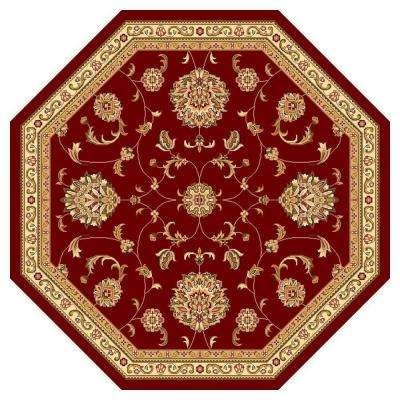 Traditional Mahal Red 7 ft. 7 in. x 7 ft. 7 in. Octagon Area Rug