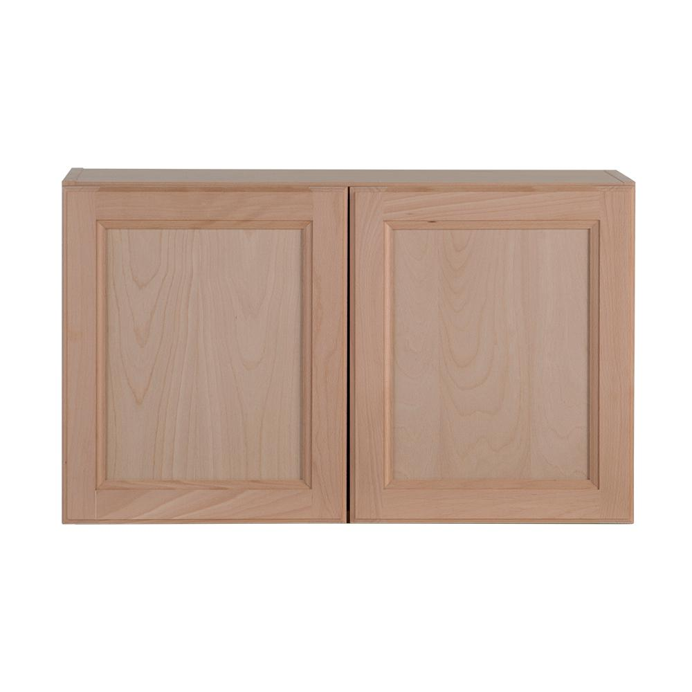 Hampton Bay Easthaven Shaker Assembled 30x18x12 In Frameless Wall Cabinet In Unfinished Beech Eh3018w Gb The Home Depot