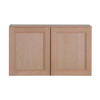 Assembled 30x18x12 in. Easthaven Wall Cabinet in Unfinished German Beech