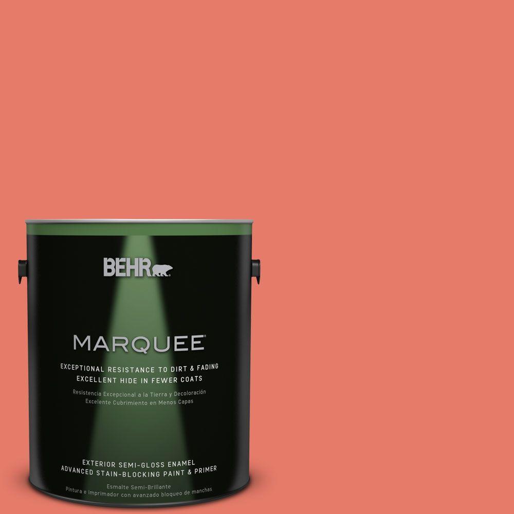1-gal. #P180-5 Watermelon Slice Semi-Gloss Enamel Exterior Paint