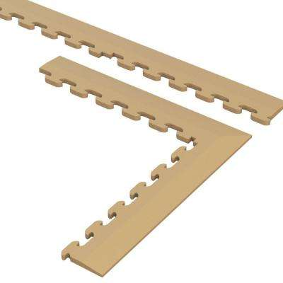 9.5 in. x 18.5 in. Beige Multi-Purpose Commercial PVC Garage Flooring Tile Trim Kit (20 sq. ft.)
