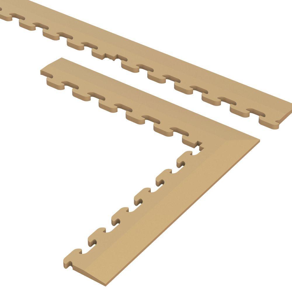 9.5 in. x 18.5 in. Beige Multi-Purpose Commercial PVC Garage Flooring