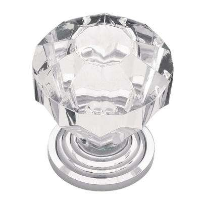 Faceted Acrylic 1-1/4 in. (32mm) Chrome with Clear Ball Cabinet Knob