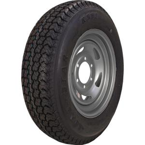 ST225/75D-15 K550 BIAS 2540 lb. Load Capacity Silver 15 inch Bias Tire and...