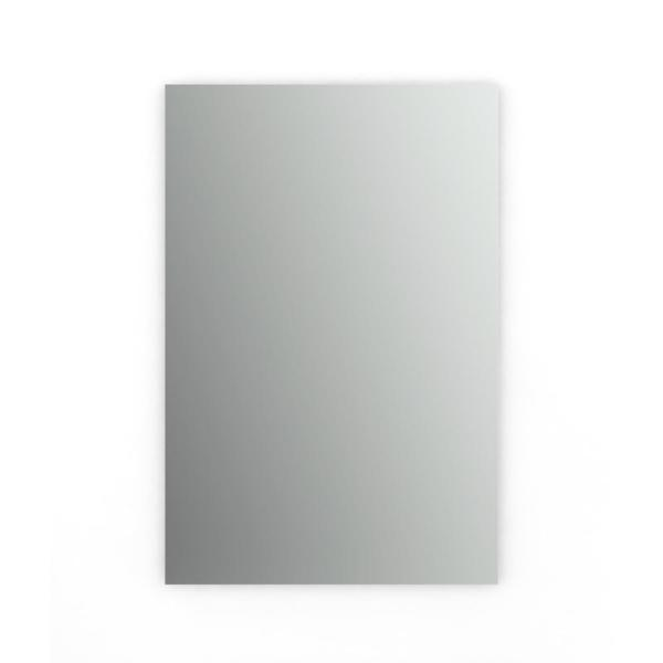 27 in. W x 41 in. H (L1) Frameless Rectangular Standard Glass Bathroom Vanity Mirror