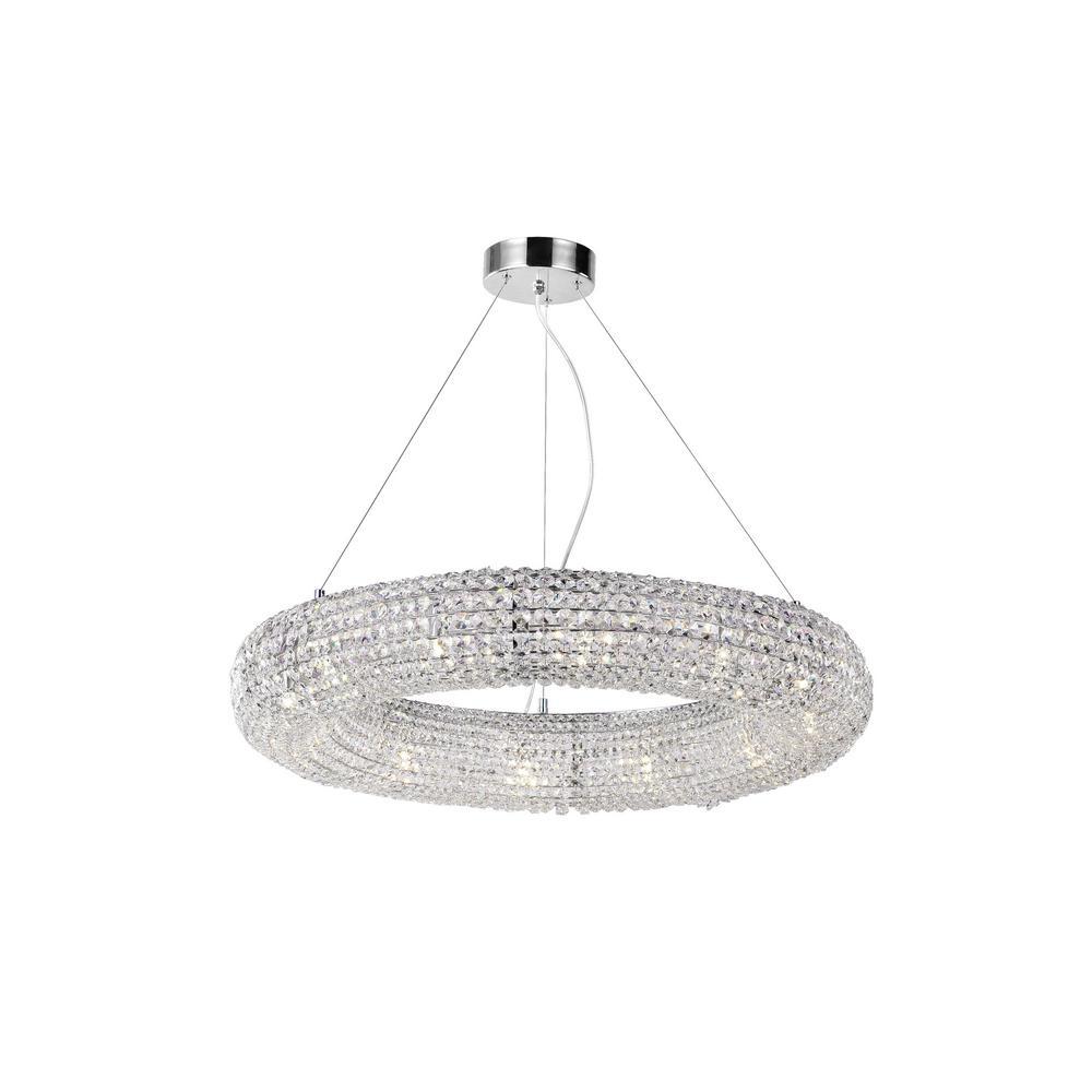 CWI Lighting Veronique 12-Light Chrome Chandelier
