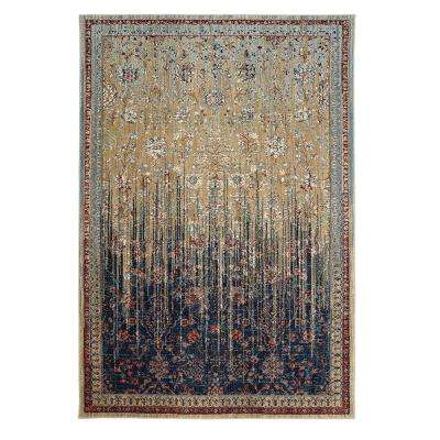Reuss Gold 10 ft. x 13 ft. Indoor Area Rug