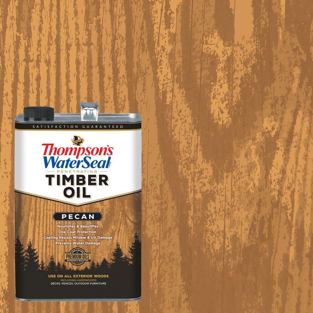 1 gal. Transparent Pecan Penetrating Timber Oil Exterior (4-Pack)