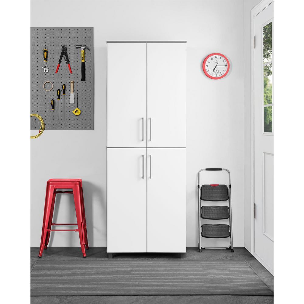 Latitude 75.35 in. H x 27.7 in. W x 19.8 in. D Cabinet in Gray/White