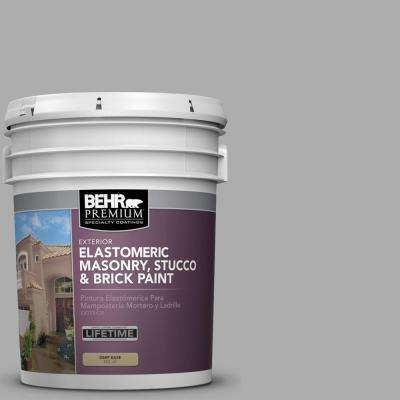 5 gal. #N520-3 Flannel Gray Elastomeric Masonry, Stucco and Brick Exterior Paint