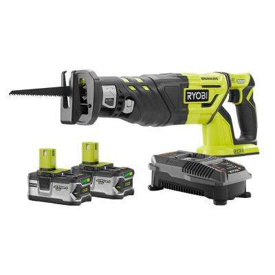 18-Volt ONE+ Cordless Brushless Reciprocating Saw Kit with Two 4.0 Batteries