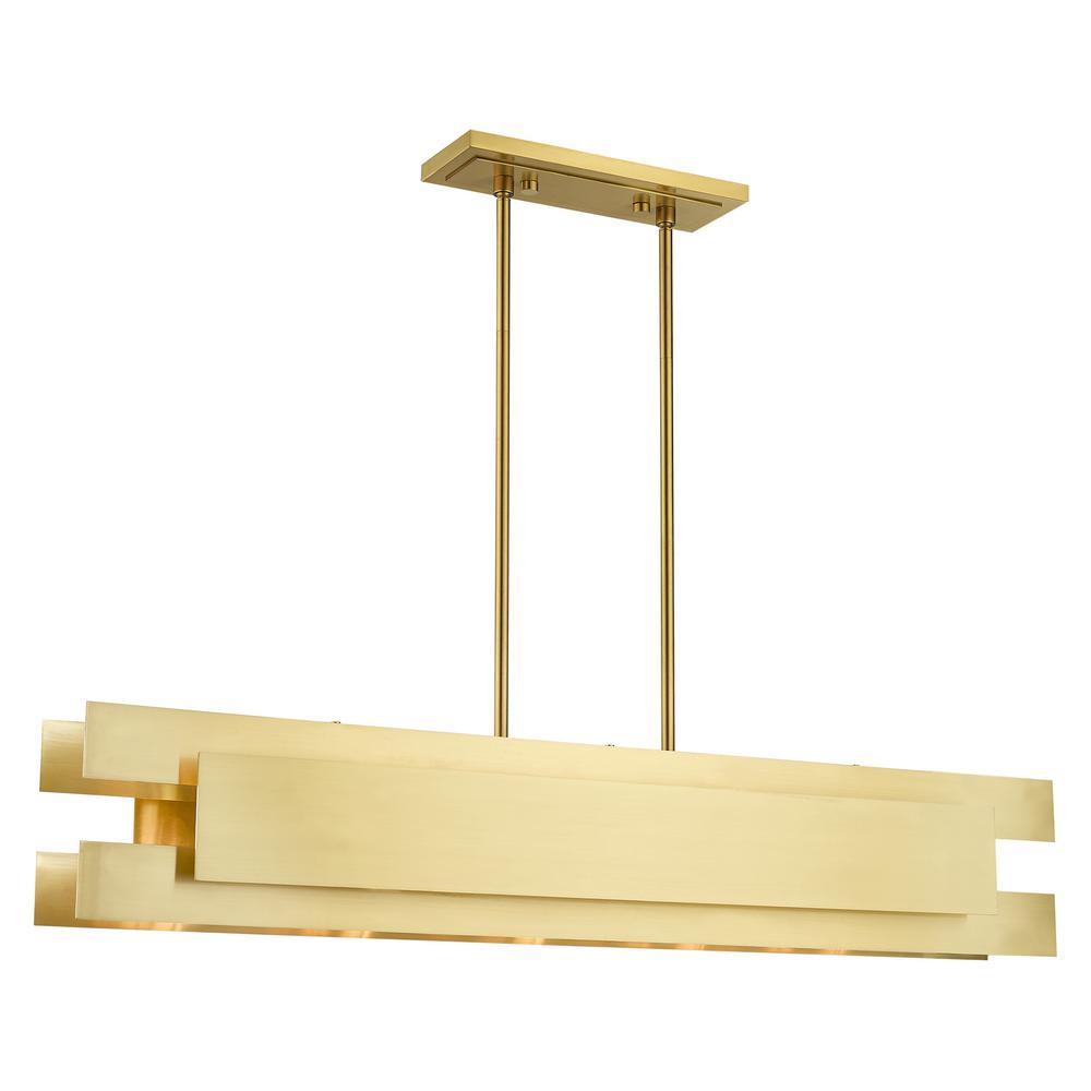 Varick 5-Light Satin Brass Linear Chandelier