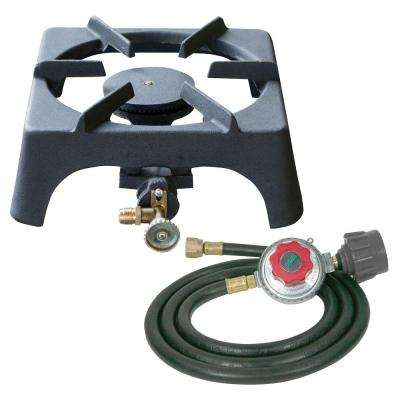 Single Burner Cast Iron Stove with Regulator Hose