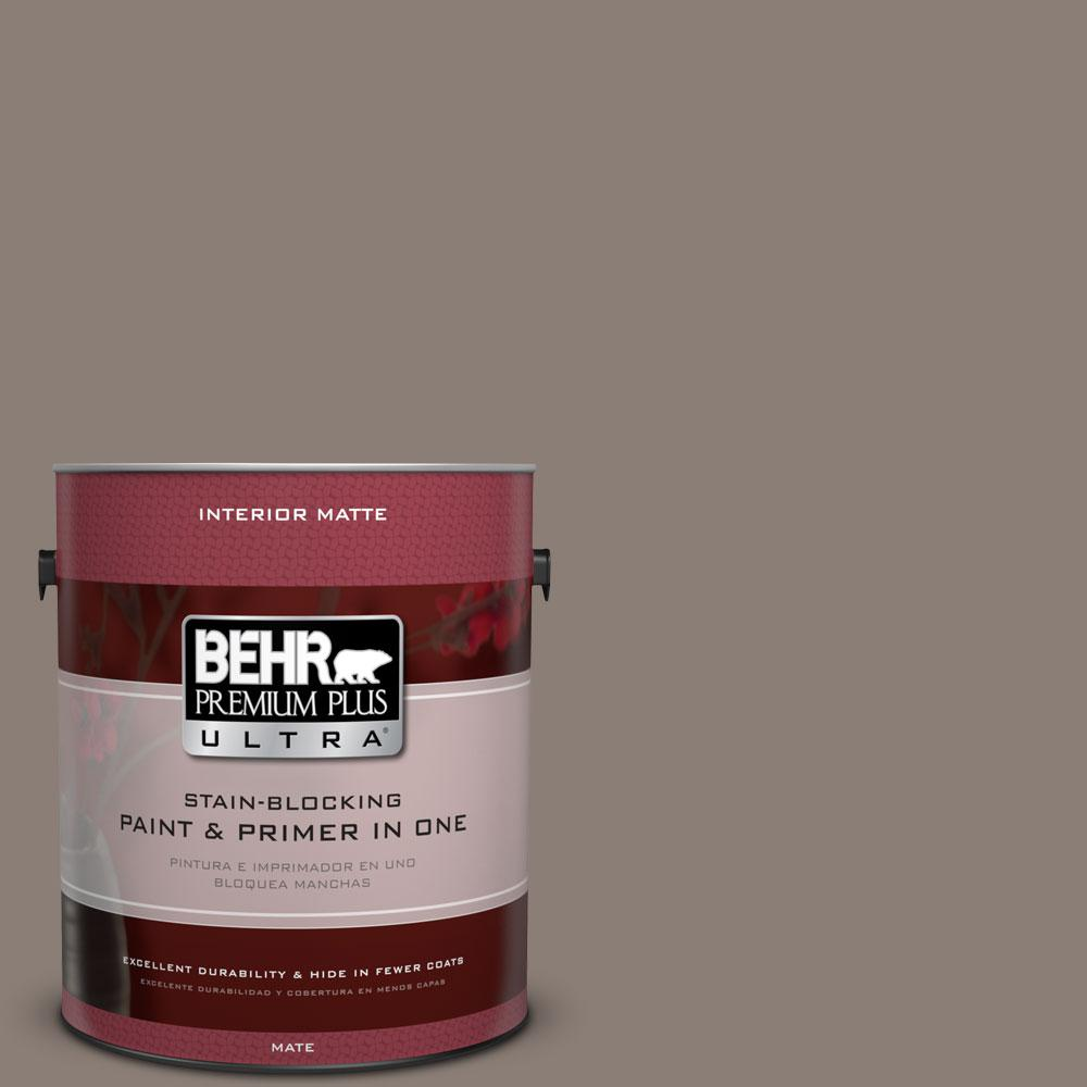 1 gal. #HDC-NT-27B Wild Truffle Matte Interior Paint and Primer in