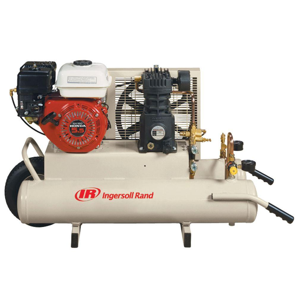 Ingersoll Rand Reciprocating 8 Gal  5 5 HP Portable Gas Wheelbarrow Air  Compressor