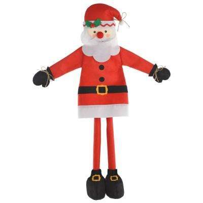 36 in. Christmas Friendly Santa Standing Decoration (2-Pack)