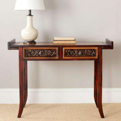 Caitlin Light and Dark Brown Storage Console Table