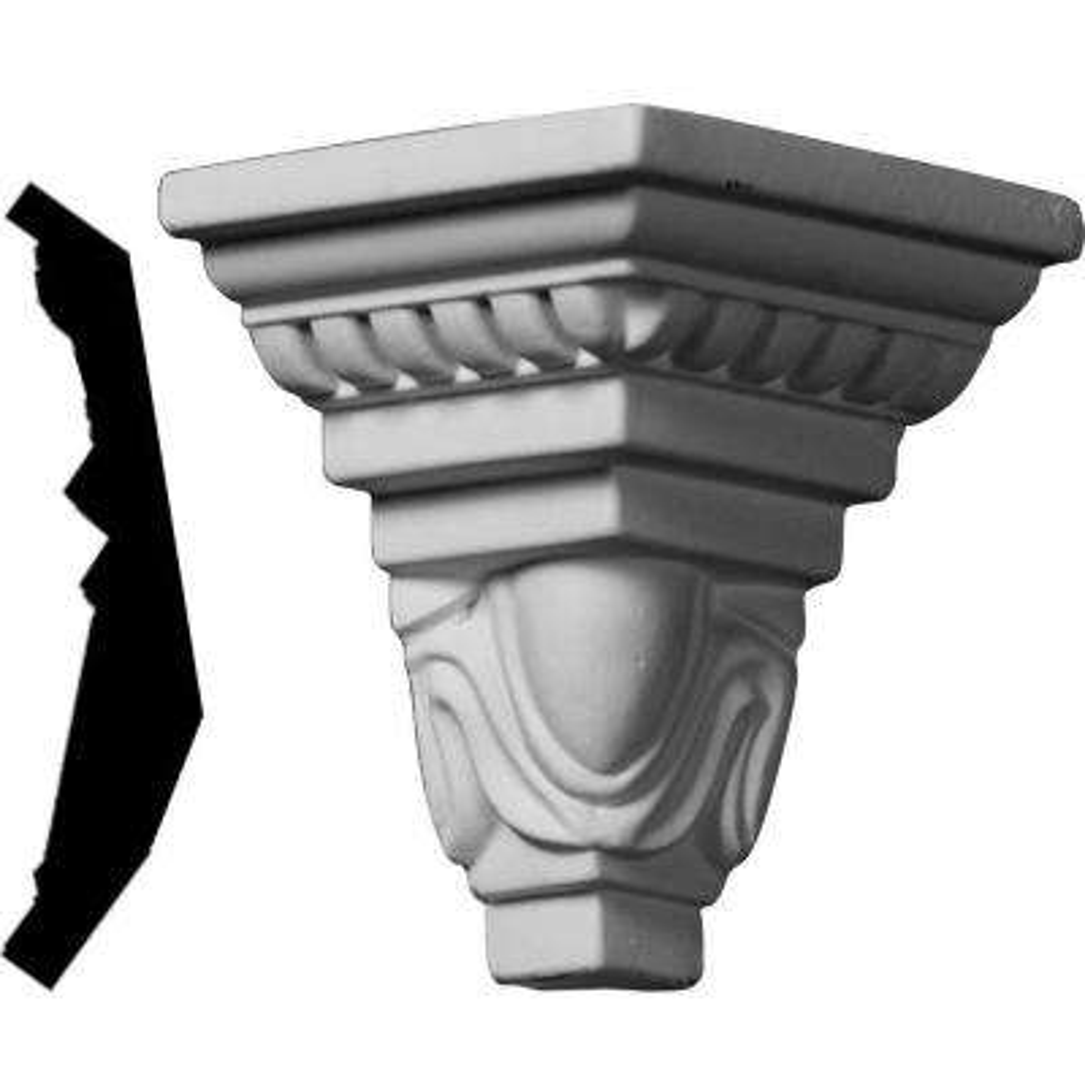 3-1/4 in. x 3-1/4 in. x 4-1/2 in. Polyurethane Crown Outside Corner Moulding