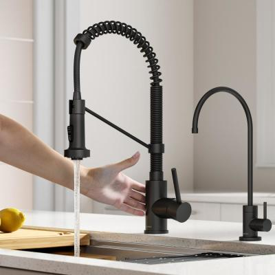 Bolden Touchless Single-Handle Pull-Down Sprayer Kitchen Faucet with Dual Function in Matte Black