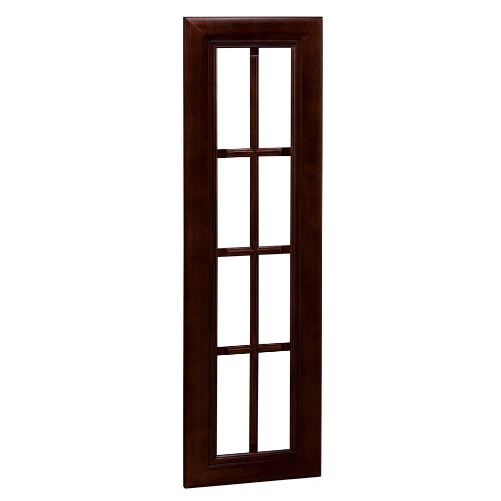 Home Decorators Collection Roxbury Assembled 18x42x0.75 in. Mullion Door in Manganite