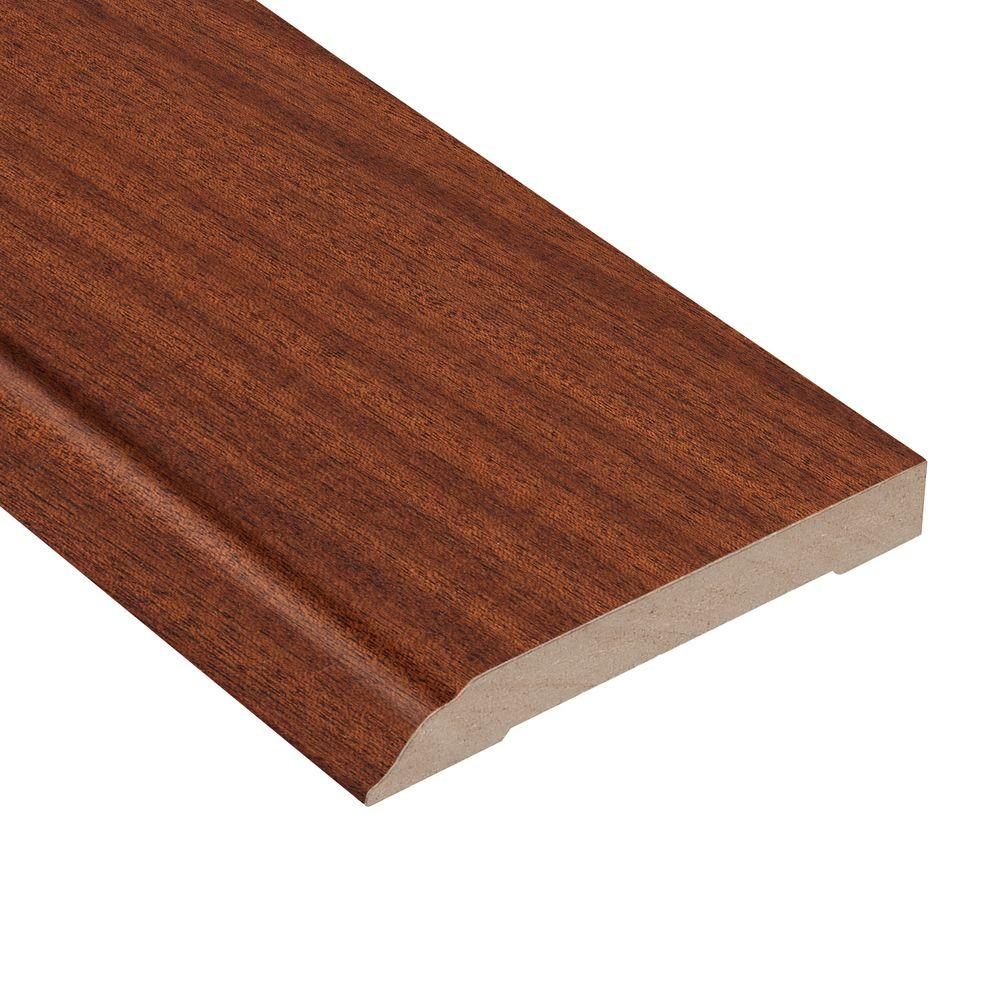 Home Legend Matte Bailey Mahogany 1/2 in. Thick x 3-1/2 in. Wide x 94 in. Length Hardwood Wall Base Molding