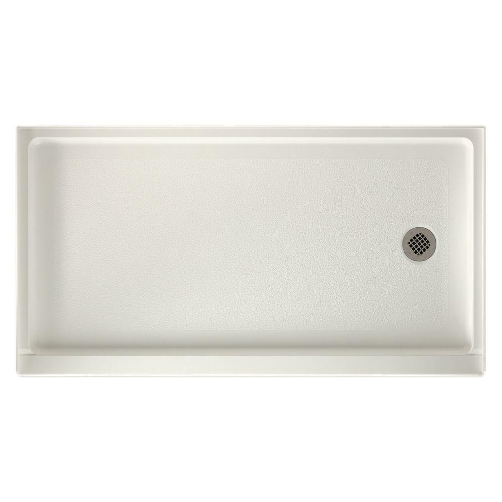 32 in. x 60 in. Fiberglass Single Threshold Retrofit Right-Drain Shower