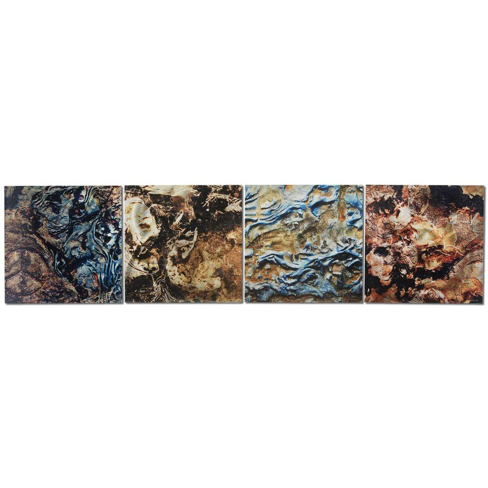 Brevium 12 in. x 50 in. Mother Earth Metal Wall Art