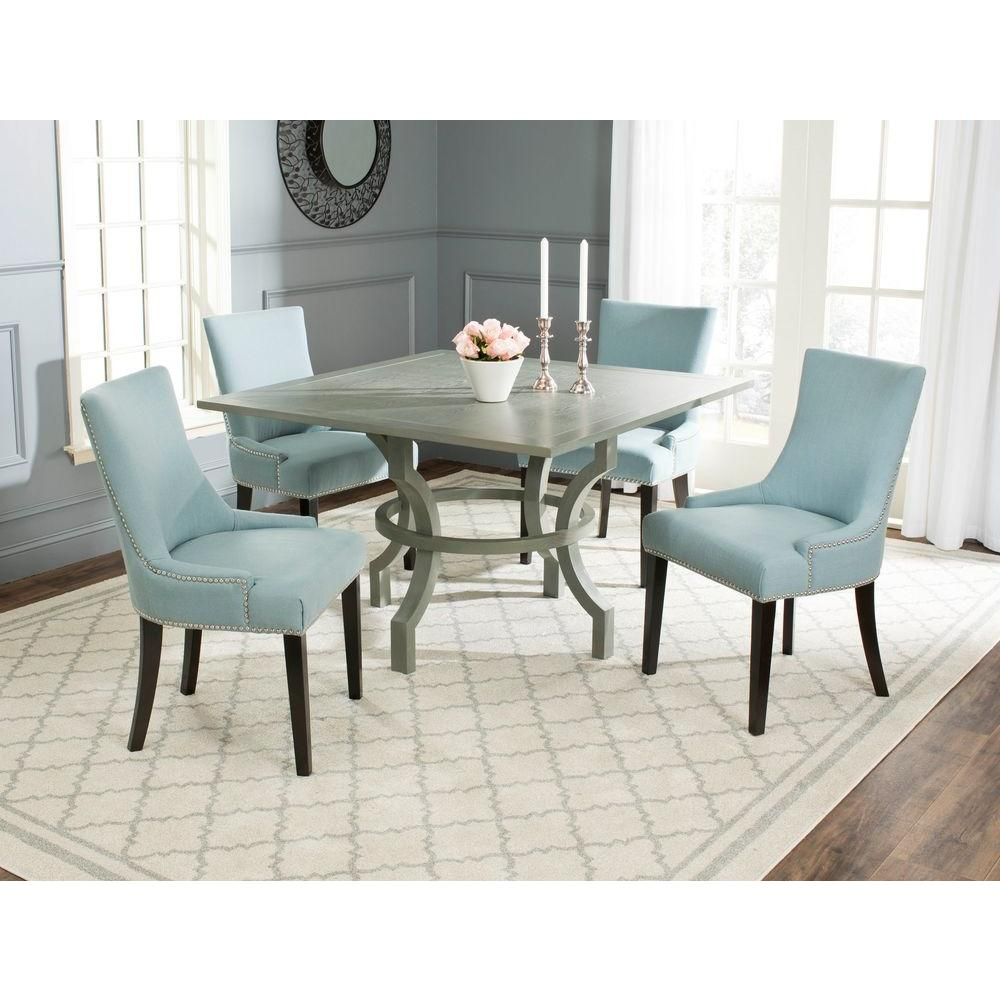 Safavieh Dining Room Chairs Alluring Safavieh Ludlow Ash Gray Dining Tableamh6645B  The Home Depot Design Decoration