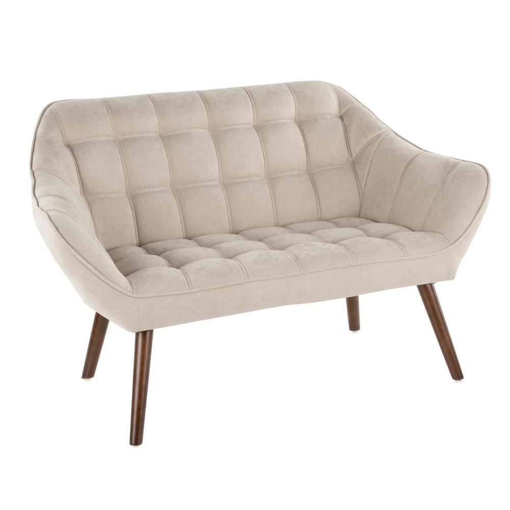 Boulder Beige Upholstered Love Seat