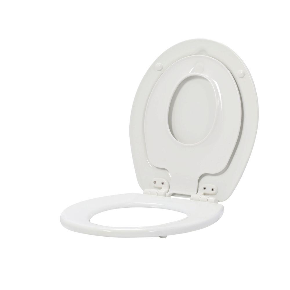 BEMIS NextStep Children's Round Closed Front Toilet Seat in White