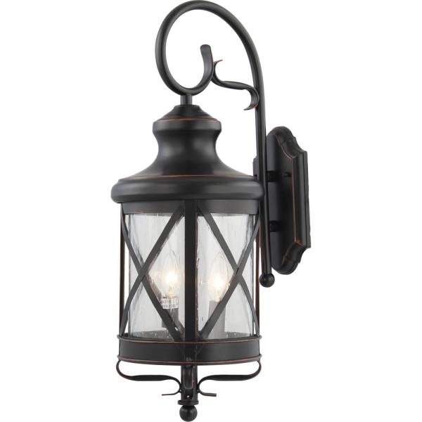 Clear Seedy Glass V8683 46, Wall Mount Outdoor Lighting
