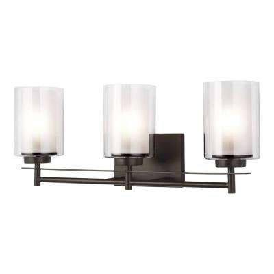Elmwood Park 22.25 in. W 3-Light Heirloom Bronze Vanity Light