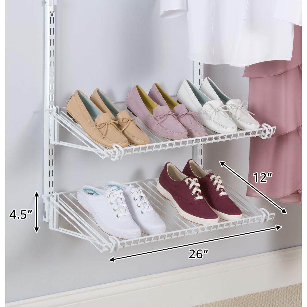 Configurations White Add-On Shoe Shelf Kit