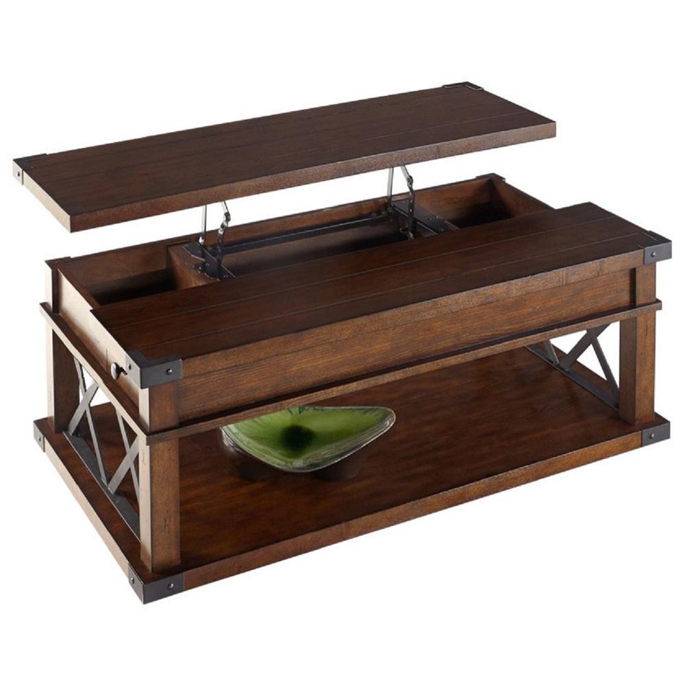 Lift Top Coffee Table Antique: Progressive Furniture Landmark Vintage Ash Castered Lift