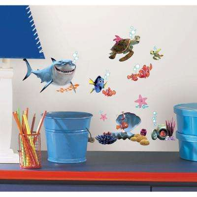 10 in. x 18 in. Finding Nemo 44-Piece Peel and Stick Wall Decals