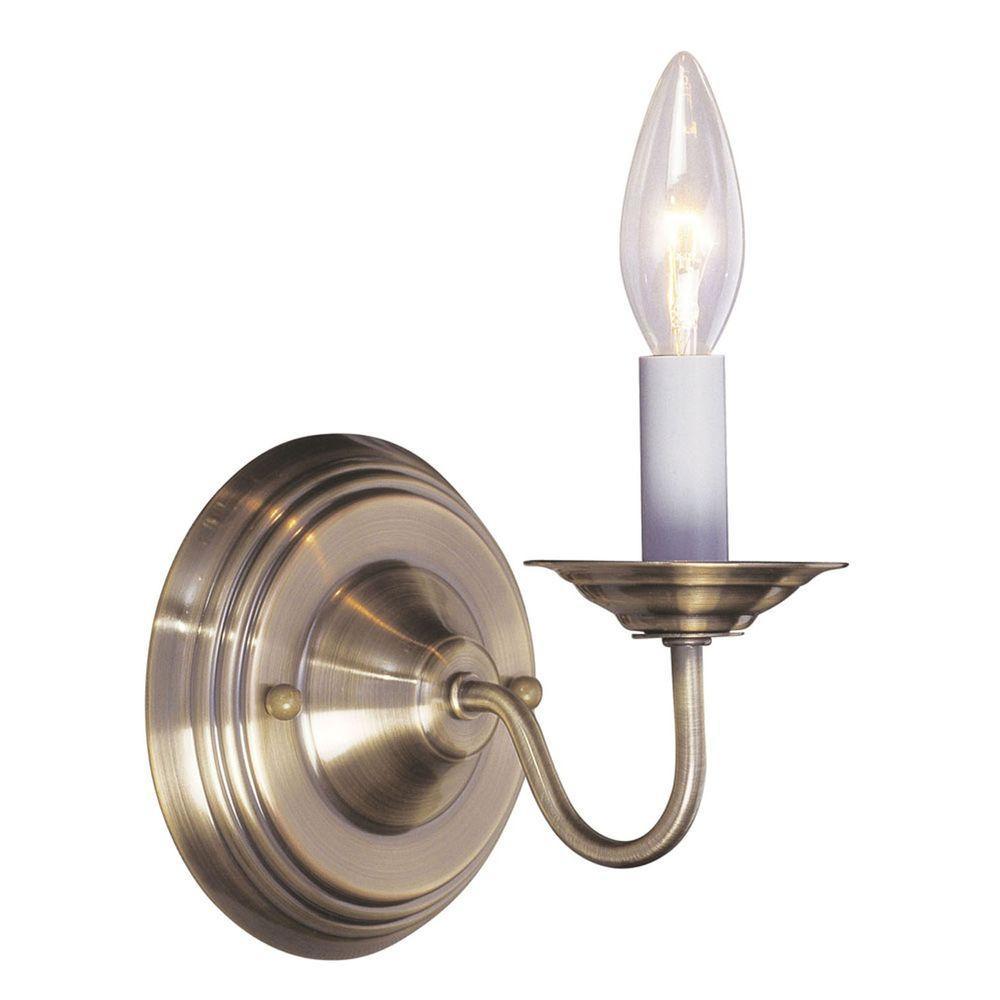 Livex Lighting Providence 1-Light Antique Brass