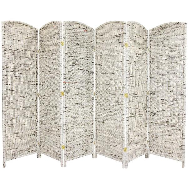 6 ft. Gray 6-Panel Recycled Newspaper Room Divider