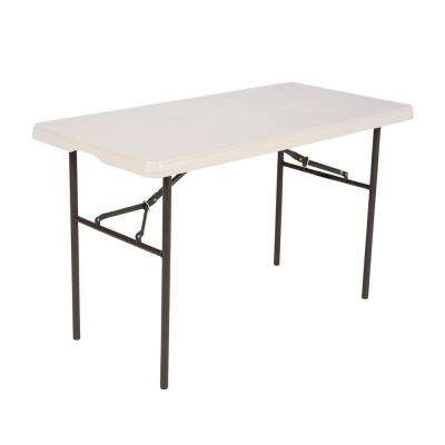 48 in. Almond Plastic Folding Utility Table