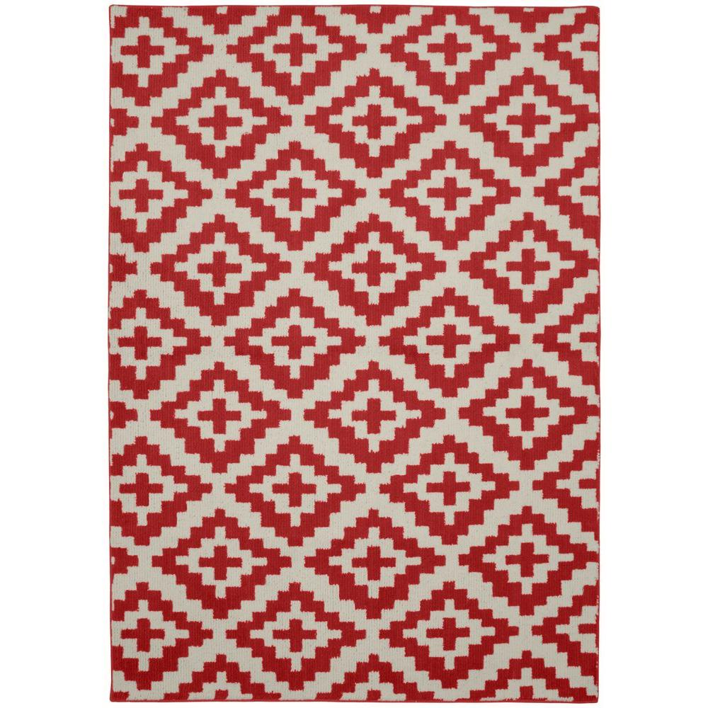 Garland Rug Southwest Chili Red Ivory 5 Ft X 7 Ft Area Rug Cc170a060084m6 The Home Depot