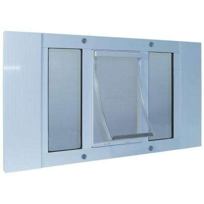 7 in. x 11.25 in. Large Original Frame Door for Installation into 23 in. to 28 in. Wide Sash Window