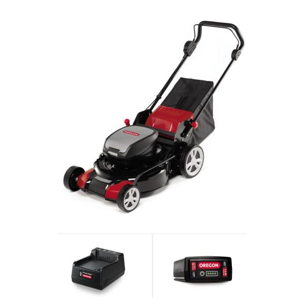 Oregon LM400 20 in. 40-Volt Battery Walk Behind Push Lawn Mower with 1 4.0 Ah Battery and 1 C600 Standard Charger