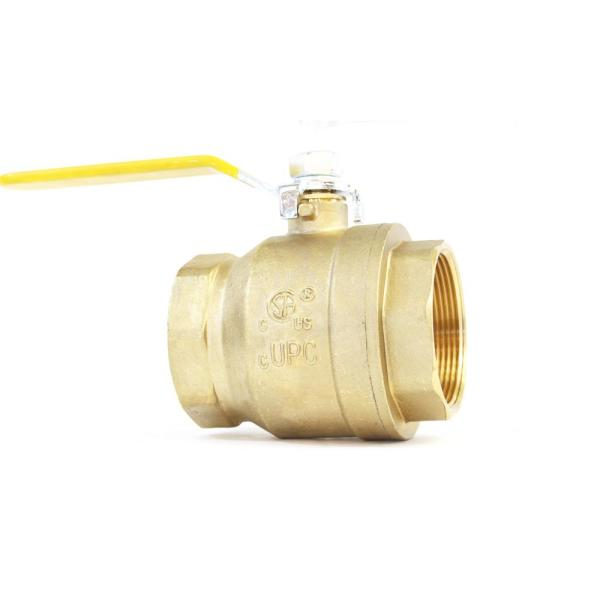 2 in. Lead Free Brass Industrial Threaded FPT x FPT Ball Valve